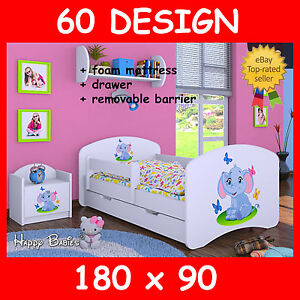 TODDLER CHILDREN KIDS BED BEDROOM NEW SLATTED FRAME WITH MATTRESS