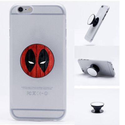 The Flash Batman Deadpool Super Hero Pop Up Phone Grip Holder Mount Stand