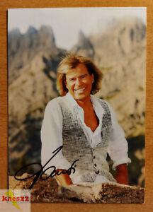 Hansi Hinterseer Original signierte Autogrammkarte (Volksmusik, Schlager)