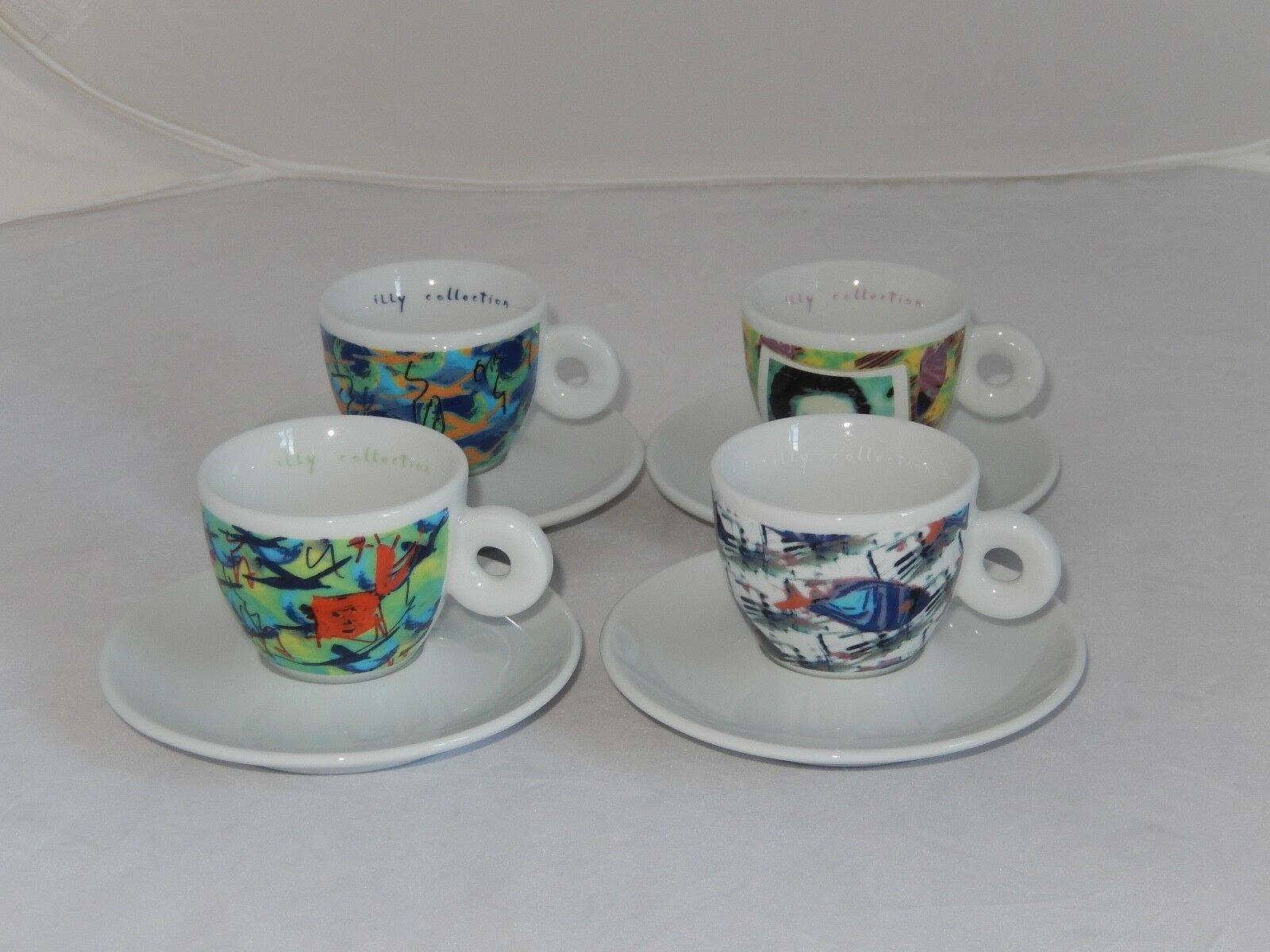 ILLY COLLECTION 4 Espresso Tasses Nam June Paik 1996 TOP
