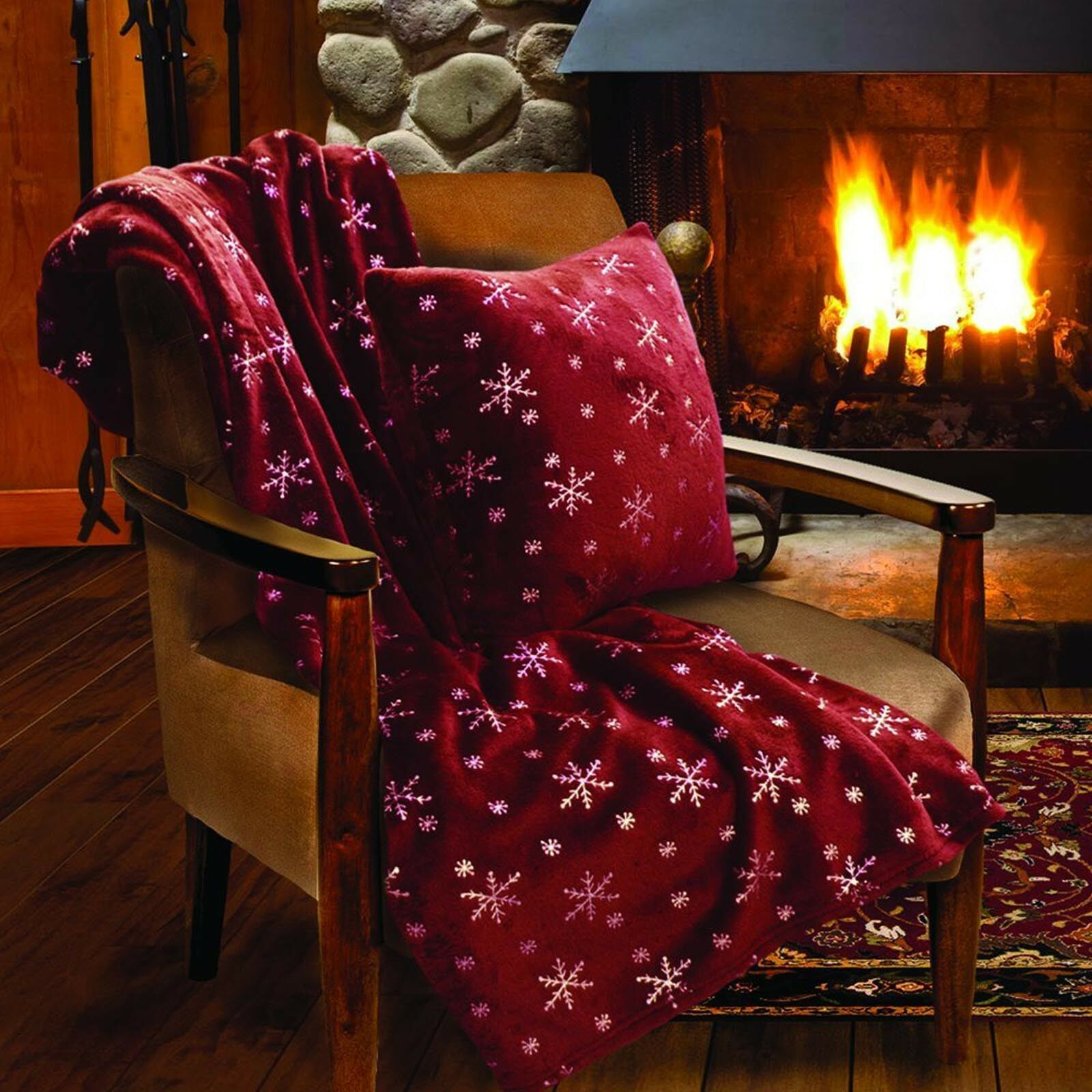 Wrinkle Resistant Soft Throw Blanket for Christmas, Suitable for Chair or Bed
