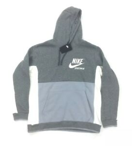 d85a42708e3c NEW Nike Archive Pullover Jacket Hoodie Heather Gray White Mens Sz ...