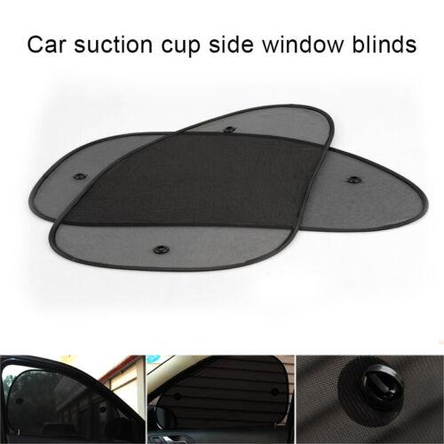 2Pcs Universal Car Side Window Sun Shade Mesh Cover Visor Shield Sunshade UV