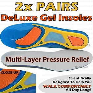 Premium-GEL-Orthotic-Support-INSOLES-Heel-Arch-Foot-Blisters-Sport-Pad-Cushion