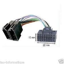 Câble adaptateur ISO 10 x 22mm autoradio JVC 16 pins