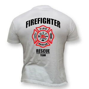 3555a2c6bb9dd La imagen se está cargando Bombero-Brigada-Bomberos-Camiseta -de-equipo-de-rescate-