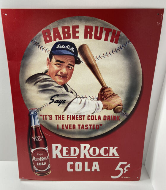 Metal Sign Vintage Look Reproduction 2 Red Rock Cola