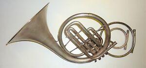 Ensoleillé Old Made In Usa Par Conn (mellophone) Ténor Cor Horn-afficher Le Titre D'origine Facile Et Simple à Manipuler