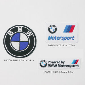 BMW-M-SERIES-MOTORSPORT-Patch-Set-of-3-Different-German-Marque-Car-Patches-NEW