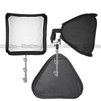 "PRO Portable 24""/60cm Softbox For SpeedLight Flash Hot Shoe Soft Box Kit 60x60cm"