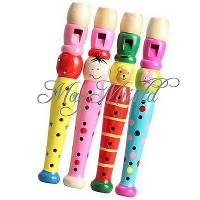New Wooden Plastic Kid Piccolo Flute Musical Instrument Early Education Toy E