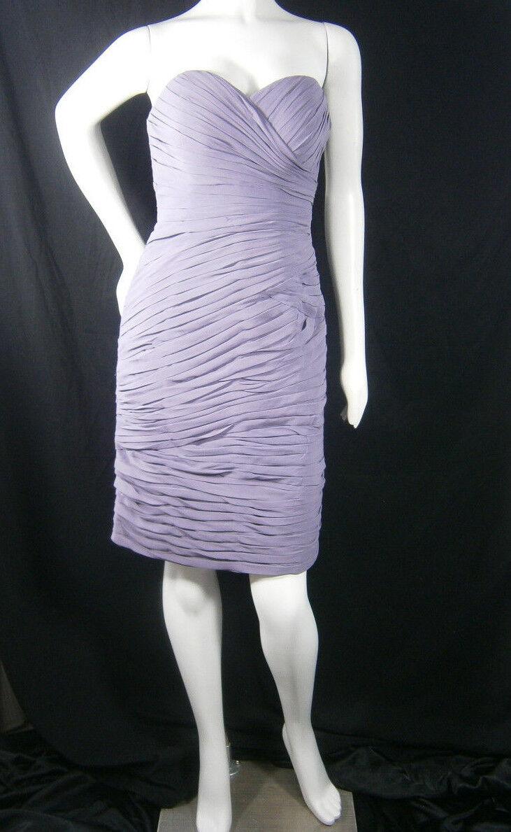 Bill Levkoff Designer Sample 8 Lilac Bridesmaid Dress Prom Wedding Gown NEW