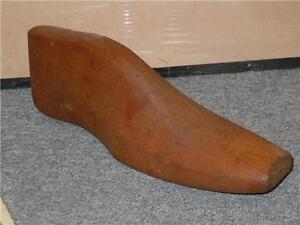 Antique-Wooden-Shoe-Insert-Form-Size-12-Vintage-Store-Accessory-Carved-Unique-VG