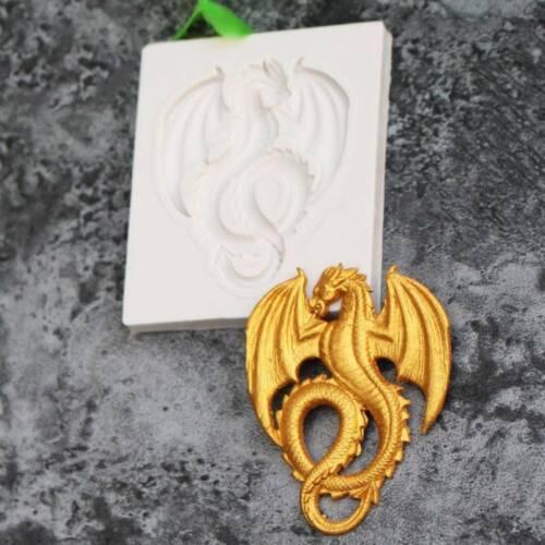 3D Dragon Fondant DIY Silicone Mould Sugar Paste Cake Decor Soap Biscuit Mold S