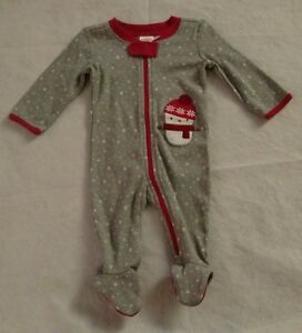 6a7f8f2c8 NWT Gymboree Snowman Christmas Holiday Sleeper Footed 1PC Boy Girl ...