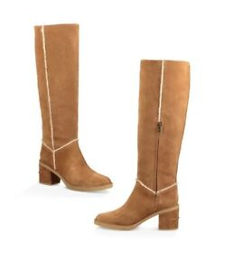 Details about UGG Kasen Tall II Suede Block Heel Boots Model 1095052