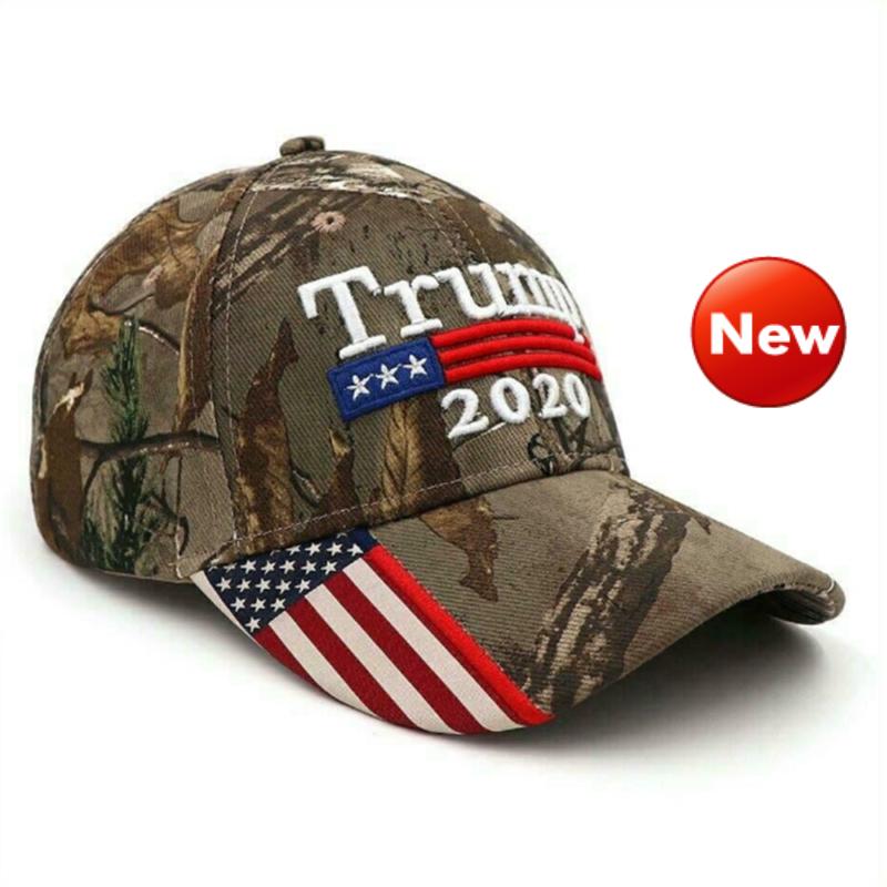 2019 Donald Trump 2020 Cap USA Flag Camouflage Baseball Hot Hat Great Cap