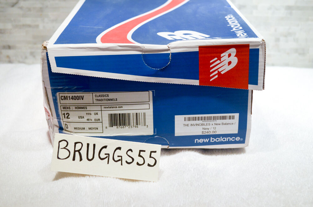 DEADSTOCK New Balance X Invincible 1400 Size 12 w    Box and Laces 140aa9
