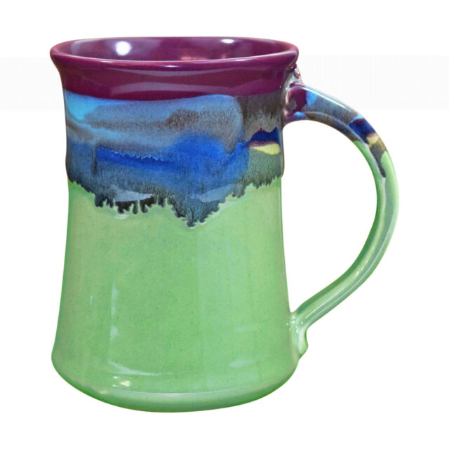Clay in Motion Handmade Ceramic Large Mug Coffee Cup 20 oz - Mossy Creek