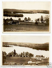 St. Alphonse, Quebec, CANADA 2 Real Photo Postcards 1934 Au-Lac-Pierre