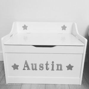 WHITE-Toy-Box-personalizzata-di-alta-qualita-cerniera-chiusura-lenta-in-modo-sicuro-di-storage-di