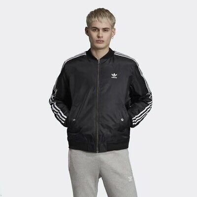 New Adidas Originals Mens PADDED BOMBER JACKET BLACK ED5825 PARKA S 3XL TAKSE   eBay
