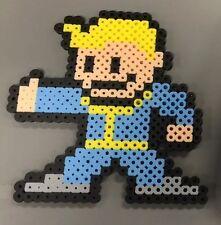 Fallout New Vegas Vault Boy Bead Sprite 8 Bit Perler Pip Boy 4 3 Hama