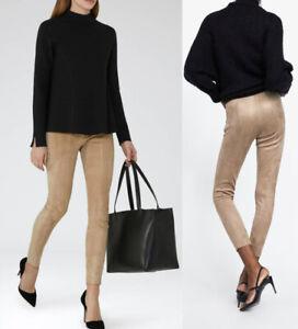 zara pantalon femme imitation daim