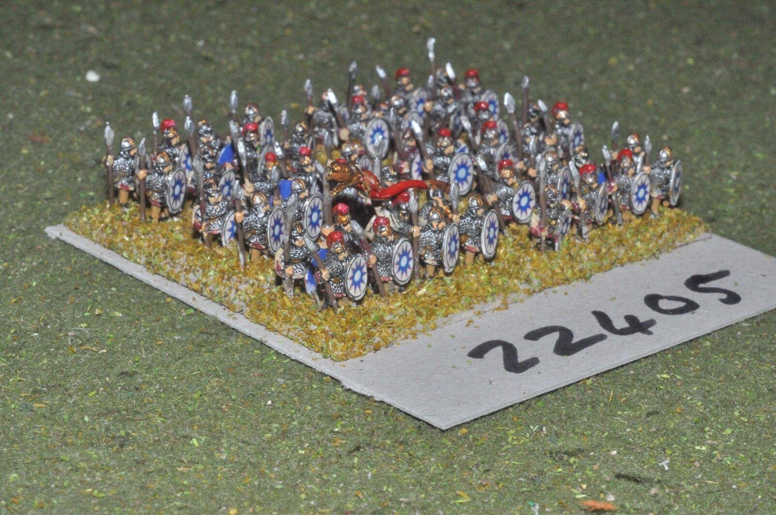 10mm Roman era   roman - late legionaries 48 figs - inf (22405)