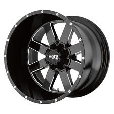 17 Inch 8x65 4 Wheels Rims 17x10 24mm Black Milled Moto Metal Mo962