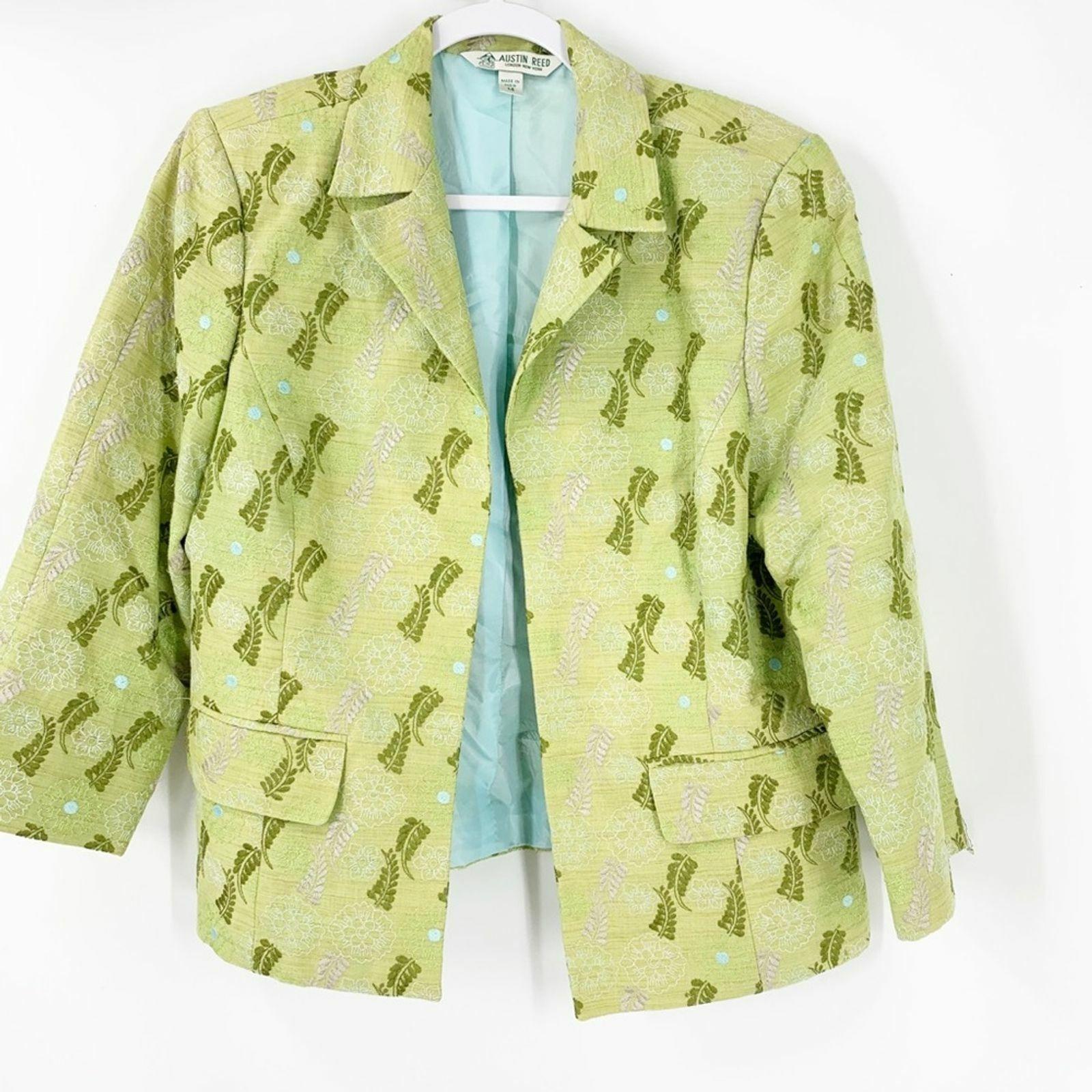 Kupit Vintage Austin Reed Green Floral Embroidered Blazer 14 Na Aukcion Iz Ameriki S Dostavkoj V Rossiyu Ukrainu Kazahstan