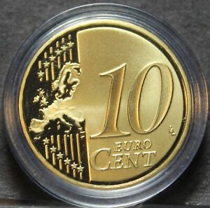 Luxembourg-10-Cents-2008-Encapsulated-Proof-RARE-2-500-Minted-Henry-Ruler-Fr-Sh