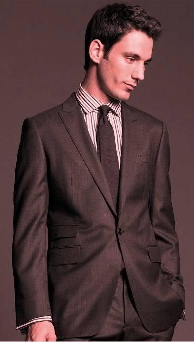 NWT Banana Republic BR Monogram Italian Wool Suit Blazer, Dark Braun, sz 48R