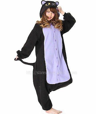 The Official Sazac Animals Kigurumi Spooky Cat Cosplay Costume Party Pajamas