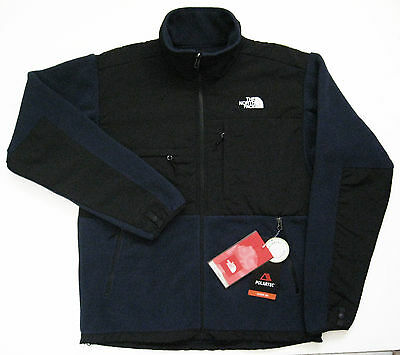 THE NORTH FACE Mens Denali Fleece Jacket  Deep Water Blue Black Medium AMYN NEW