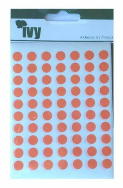 490 Stickers Ivy 8mm Pink Self Adhesive Round Dot Spot Sticky Labels Circle Stickers