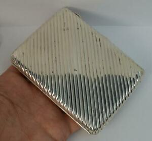 Victorian-Chester-Silver-Ribbed-Purse-or-Calling-Card-Case