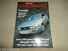 VW Car & Driver.Corrrado.Scirroco Scala GT.Golf. GTi.  Collectors Condition.Mint