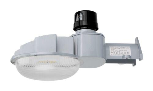 Security Dusk to Dawn 120-277V LED Street Barn Light 70 Watt Silver Photocell