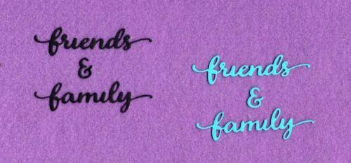 FRIENDS /& FAMILY die cuts scrapbook cards