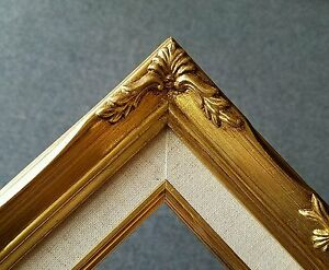 5x7-8x10-Classic-Gold-Leaf-Ornate-Art-Photo-Picture-Frame-with-Linen-Liner-B8G