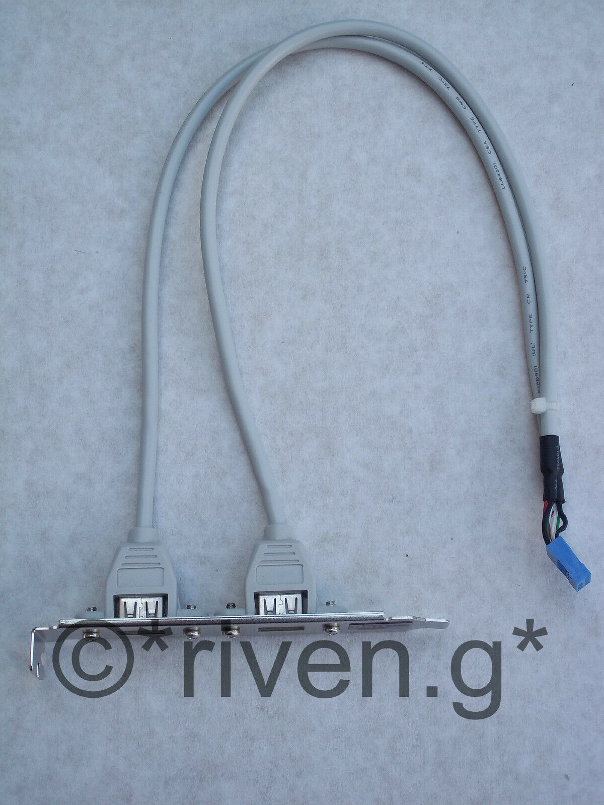 USB HEADER CABLE@USB 2.0 COMPATIBLE@SHIELDED CABLE ADD 2 X USB PORTS TO YOUR PC