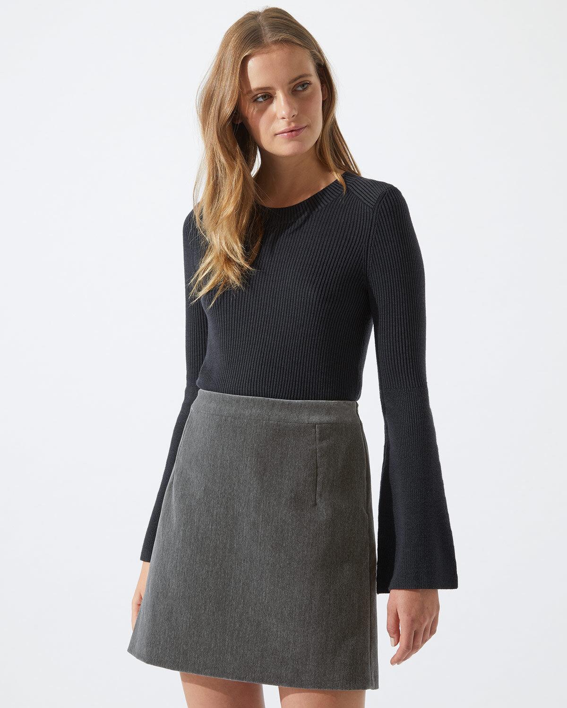 Jigsaw Brushed Velvet Mini Skirt damen New grau Shadow grau