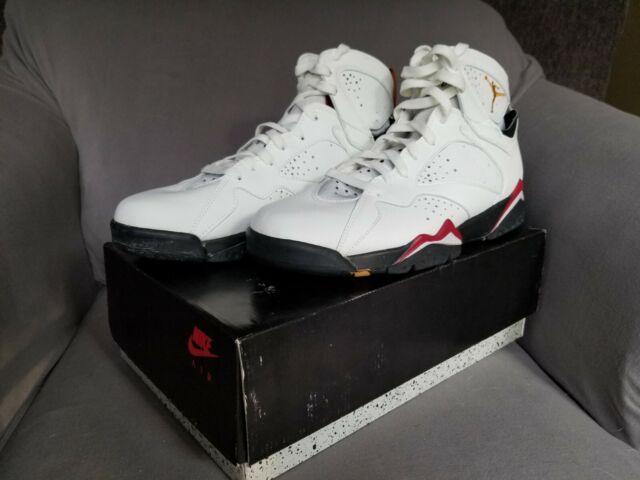 Air Jordan VII Original New In Box White/Black/Cardinal Red/Gold Size 11