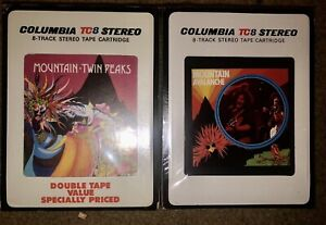 LOT OF 2 NEW SEALED MOUNTAIN 8-TRACK TAPES TWIN PEAKS & AVALANCHE UNOPENED LOOK!