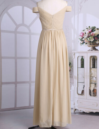 Woman Chiffon Maxi Evening Formal Party Ball Gown Prom Bridesmaid Cocktail Dress