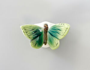 9997654 Ens Porcelain Figurine Wall Butterfly Small Grün 1 5/8x2 3/8in Other Antique Ceramics Antiques