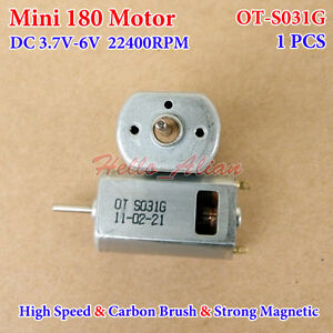 1pcs FK-180SH DC3.7V 38000RPM Strong Magnetic High Speed Model Airplane DC Motor