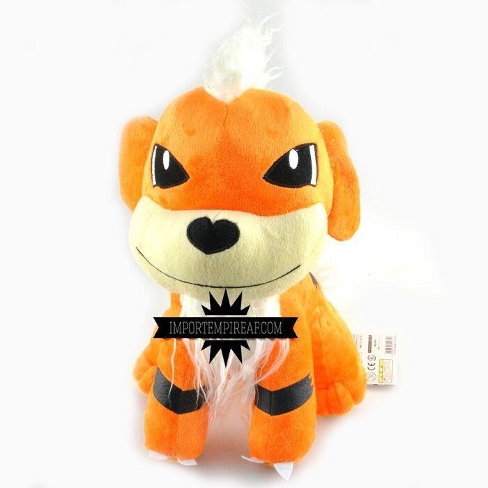 POKEMON GROWLITHE SOFT TOY LARGE 27 CM plush doll dog Mixed tumours Arcanine 58