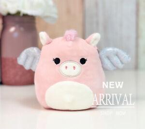 "*SALE* KellyToy Squishmallow 5"" Pandora the Pink Pegasus Silver Wings NEW Plush"